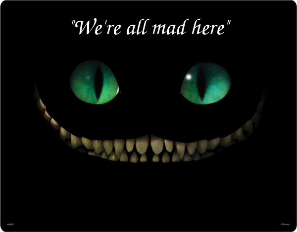 But cheshire cat smiles from the gods